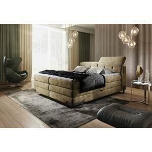 Luxusní box spring postel Massimo 180x200 s výběrem potahu!  WSL: Potah Eko-kůže Madryt 120 bílá