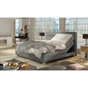 Kvalitní box spring postel Medica 180x200cm   WSL: Potah Žinilka Soro 90 světle šedá