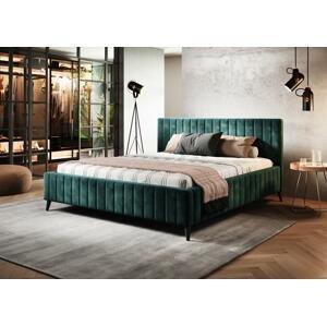 Kvalitní postel Makara 180x200cm s výběrem potahu!  WSL: Potah Žinilka Riviera 36 zelená