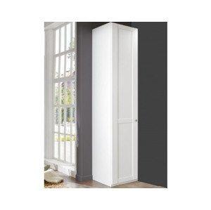 Šatní skříň New York B, 45 cm, bílá