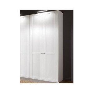 Šatní skříň New York B, 90 cm, bílá