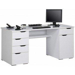 Psací stůl Model 9539, bílý/bílý lesk