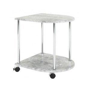 Odkládací stolek na kolečkách Marburg, šedý beton