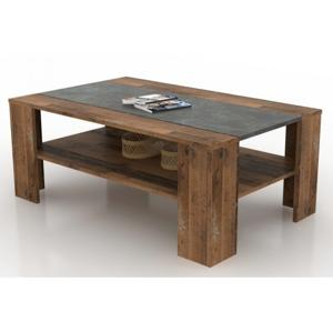 Konferenční stolek Pico, tmavý beton/vintage optika dřeva