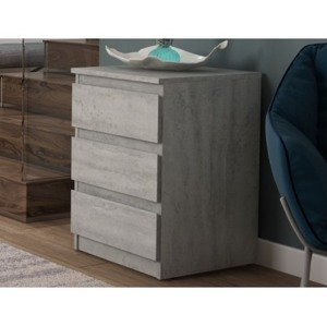 Skříňka/vysoký noční stolek Carlos 403S, šedý beton