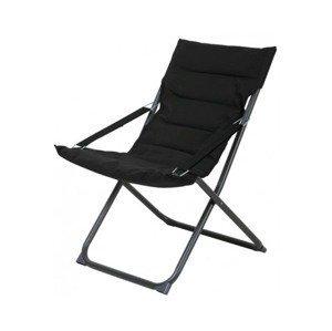 Skládací zahradní židle Bibione, černá