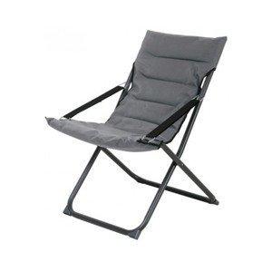 Skládací zahradní židle Bibione, šedá