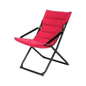 Skládací zahradní židle Bibione, červená