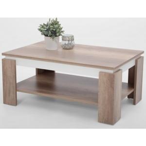 Konferenční stolek Tim 2, dub divoký/bílá