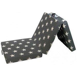 Skládací matrace Samba, šedá se vzorem hvězd