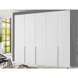 Šatní skříň New York D, 225 cm, bílá/bílý lesk