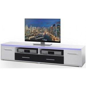Široká TV skříňka Blue Line 4, s osvětlením