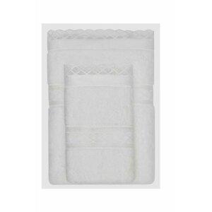 Soft Cotton Dárkové balení ručníků a osušek SELYA Smetanová