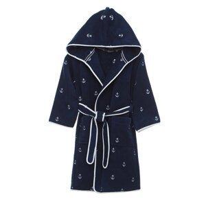 Soft Cotton Dětský župan MARINE BOY s kapucí v dárkovém balení Tmavě modrá 10 let (vel.140 cm)