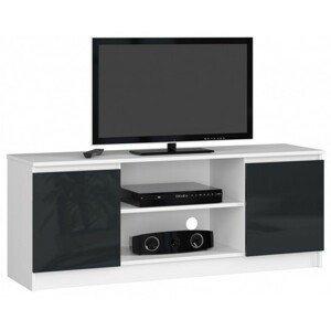 TV stolek RTV K140 grafit lesk bílá