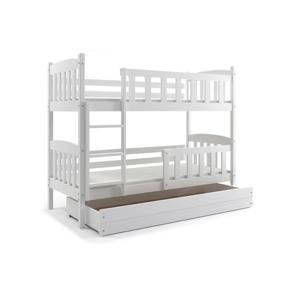 Dětská patrová postel KUBUS 200x90 cm Bílá