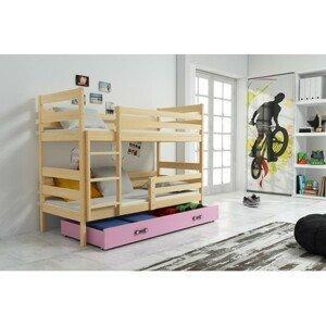 Dětská patrová postel ERYK 190x80 cm Ružové Borovice
