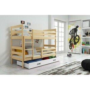 Dětská patrová postel ERYK 200x90 cm Bílá Borovice