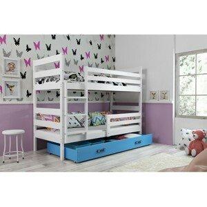Dětská patrová postel ERYK 200x90 cm Modrá Bílá