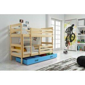 Dětská patrová postel ERYK 200x90 cm Modrá Borovice