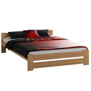 Vyvýšená masivní postel Euro 180x200 cm včetně roštu Olše