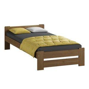 Vyvýšená masivní postel Euro 80x200 cm včetně roštu Dub