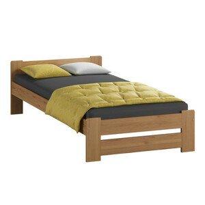 Vyvýšená masivní postel Euro 80x200 cm včetně roštu Olše