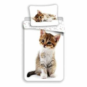 Bavlněné povlečení, milá kočička