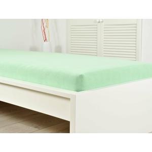 B.E.S. Petrovice Prostěradlo Froté PERFECT 200x220 cm – Světlá zelená