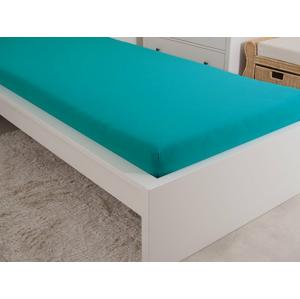B.E.S. Petrovice Prostěradlo Jersey česaná bavlna MAKO 180x200 cm – Zelený tyrkys