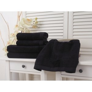 B.E.S. - Petrovice, s.r.o. Bavlněný froté ručník 50x90 Vito - Jet Black