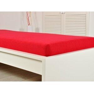 B.E.S. - Petrovice, s.r.o. Prostěradlo Froté PERFECT 90x200 cm - Červená