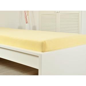 B.E.S. - Petrovice, s.r.o. Prostěradlo Froté PERFECT 180x200 cm - Žlutá