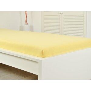 Prostěradlo JERSEY dětské 60x120 cm - žlutá