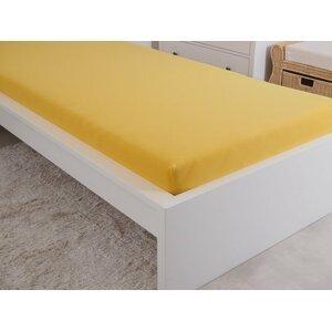 B.E.S. - Petrovice, s.r.o. Prostěradlo Jersey česaná bavlna MAKO 90x200 cm – Sytá žlutá