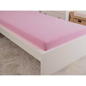 B.E.S. - Petrovice, s.r.o. Prostěradlo Jersey česaná bavlna MAKO 90x200 cm – Růžová