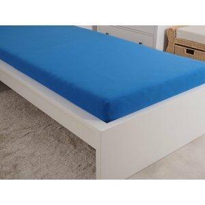 B.E.S. - Petrovice, s.r.o. Prostěradlo Jersey česaná bavlna MAKO 90x200 cm - Královská modrá