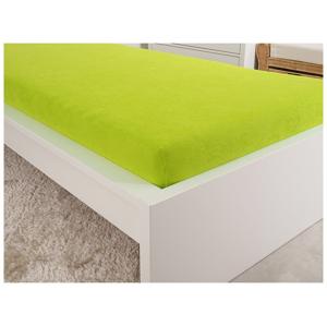 B.E.S. - Petrovice, s.r.o. Prostěradlo Jersey česaná bavlna MAKO 90x200 cm – Svítivá zelená