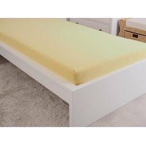 B.E.S. - Petrovice, s.r.o. Prostěradlo Jersey česaná bavlna MAKO 180x200 cm – Žlutá