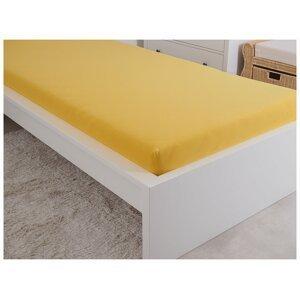 B.E.S. - Petrovice, s.r.o. Prostěradlo Jersey česaná bavlna MAKO 180x200 cm – Sytá žlutá