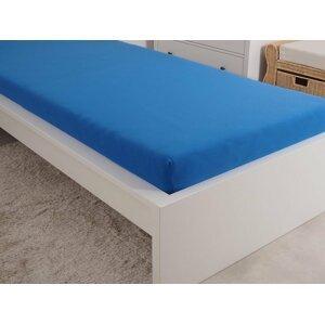 B.E.S. - Petrovice, s.r.o. Prostěradlo Jersey česaná bavlna MAKO 180x200 cm – Královská modrá