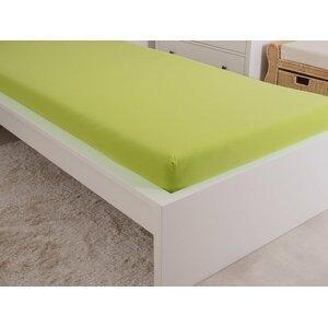 B.E.S. - Petrovice, s.r.o. Prostěradlo Jersey česaná bavlna MAKO 180x200 cm – Svítivá zelená