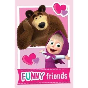 Jerry Fabrics Fleecová dětská deka 100x150 - Máša a medvěd