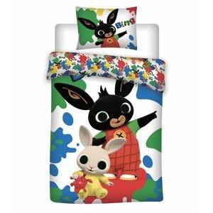 Jerry Fabrics Bavlněné povlečení 140x200 + 70x90 cm - Zajíček Bing 066