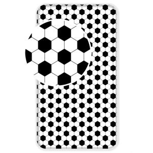 Jerry Fabrics Pružné napínací prostěradlo bavlna Fotbal 90x200 + 25cm