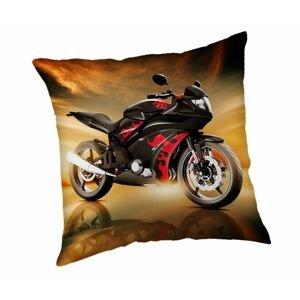 """Jerry Fabrics Dekorační polštářek 40x40 cm - Motorka """"Red"""""""