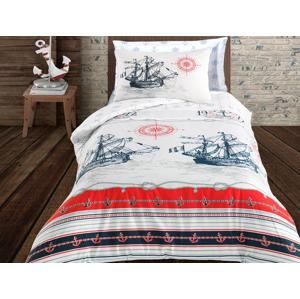 TipTrade Bavlněné povlečení 140x200 + 70x90 cm - Nautical