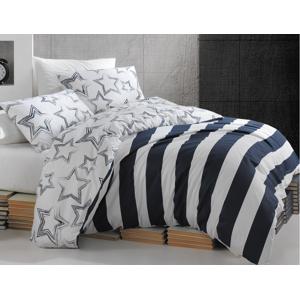 TipTrade Bavlněné povlečení 200x220 + 2x 70x90 - Stella modré