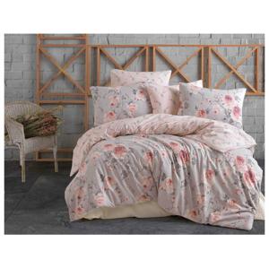 Bavlněné povlečení 140x200 + 70x90 cm - Maison růžové