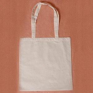 Bavlněná taška s dlouhou rukojetí - 38 x 42 cm